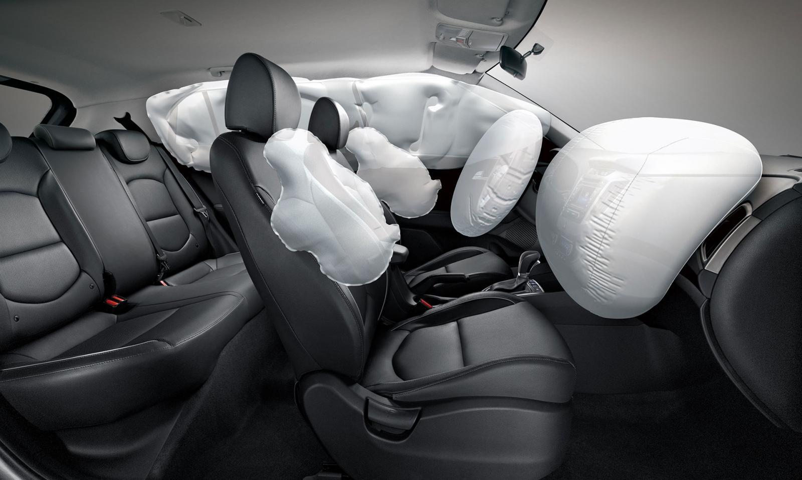 Фронтальные и боковые подушки безопасности